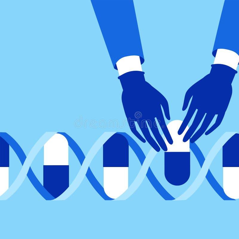 Genetic engineering. CRISPR Cas9 gene editing method stock images