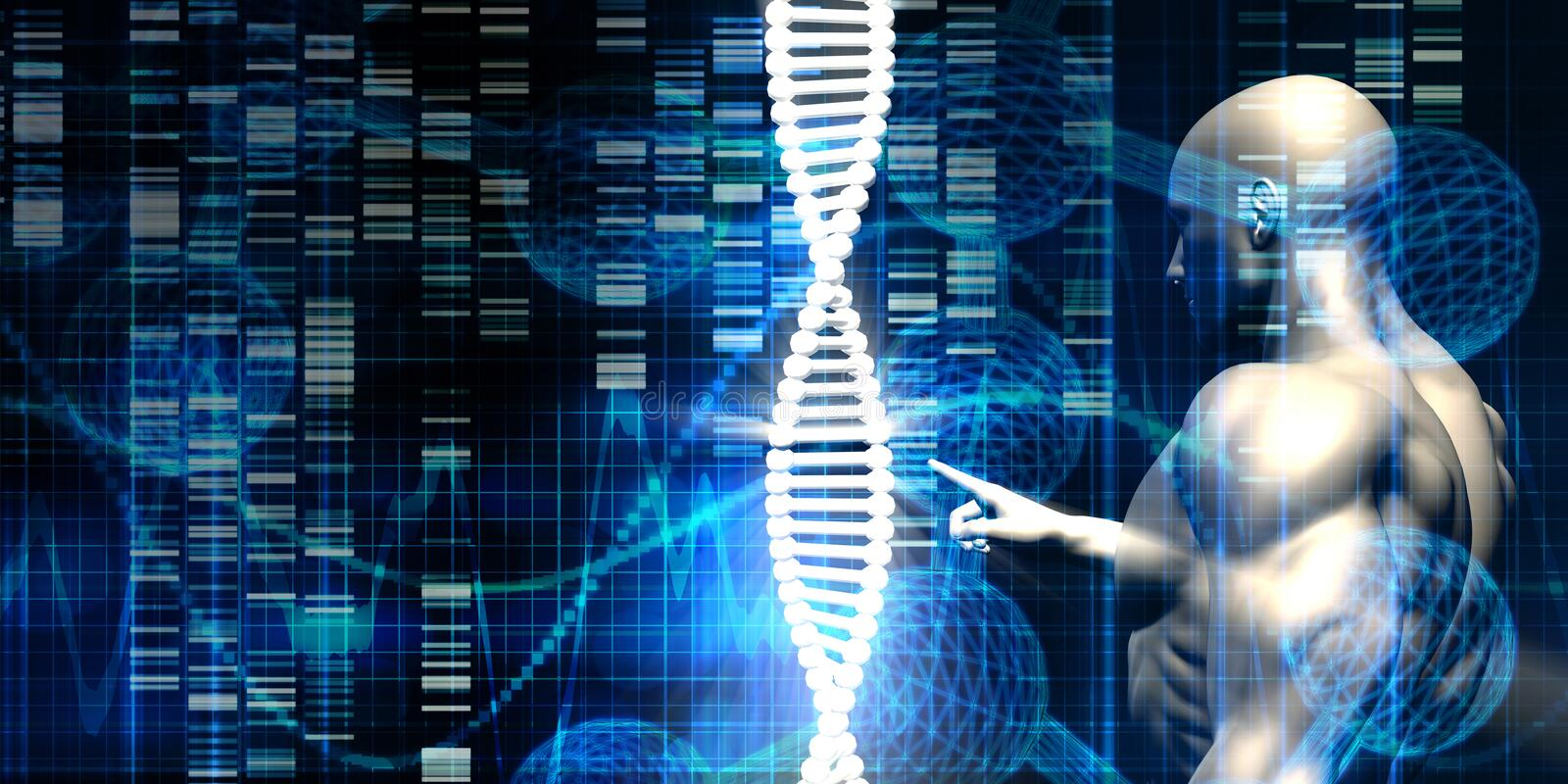 Genetic Engineering Industry stock illustration