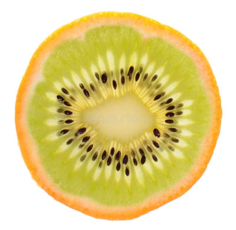 Download Genetic Engineering - Kiwi Inside Of An Orange Stock Image - Image: 17831187