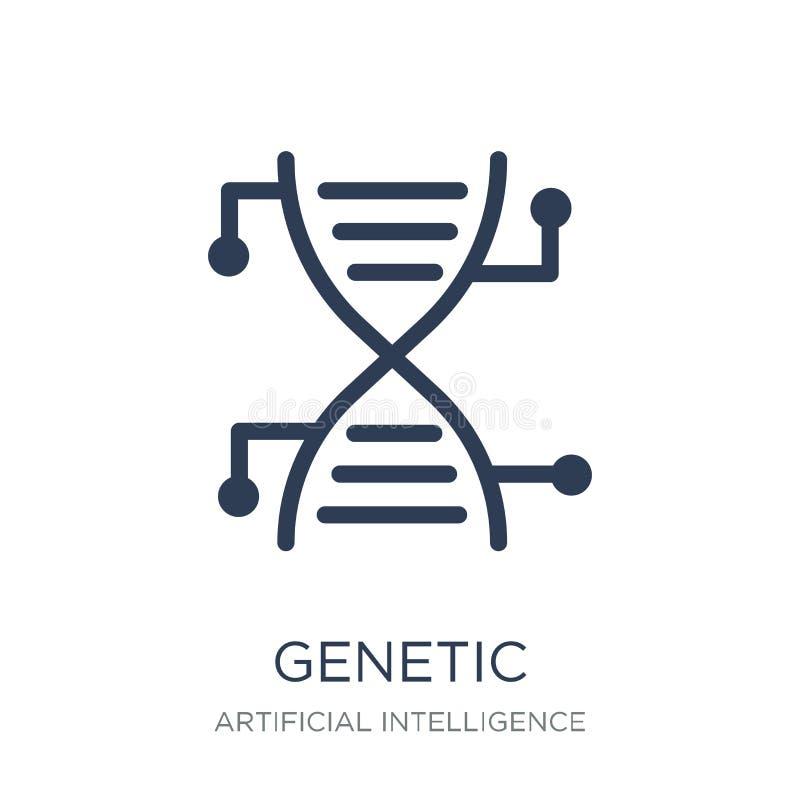Genetic modification icon. Trendy flat vector Genetic modificati stock illustration