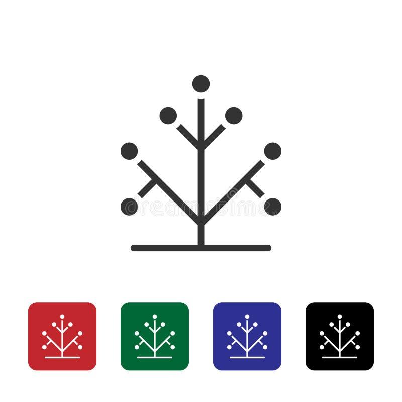 Genetica, boom, het vectorpictogram van DNA Eenvoudige elementenillustratie van biotechnologieconcept Genetica, boom, het vectorp stock illustratie