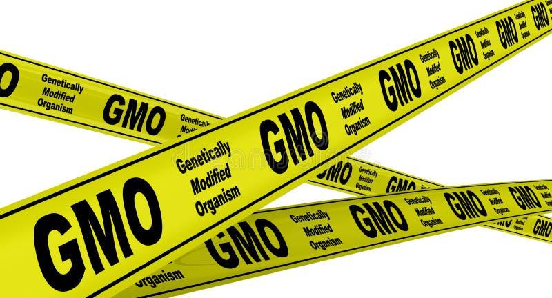 Genetically доработанный организм GMO r бесплатная иллюстрация