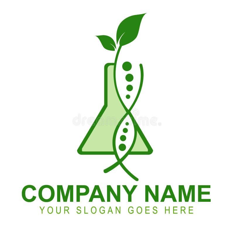 Genetically доработанный логос урожаев иллюстрация штока