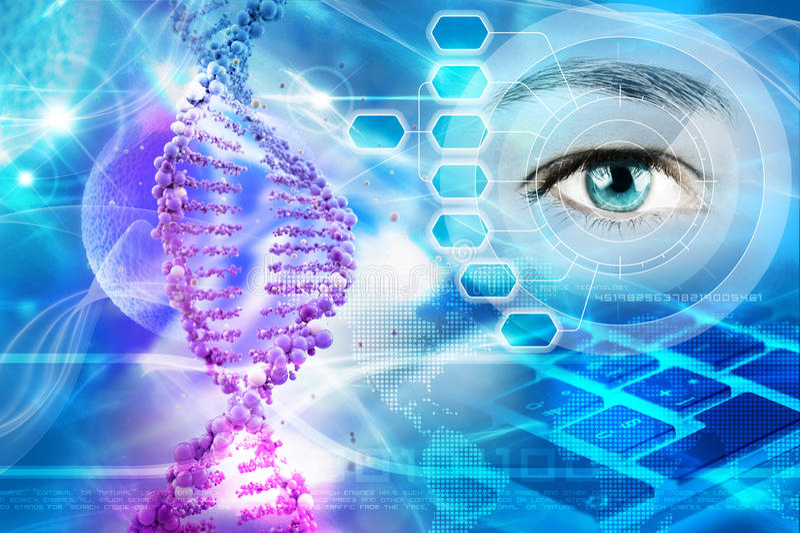 genetik vektor illustrationer
