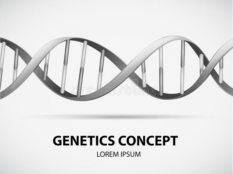 genetik royaltyfri illustrationer