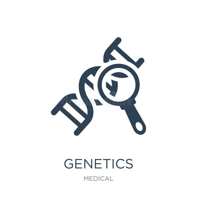 Genetikikone in der modischen Entwurfsart Genetikikone lokalisiert auf weißem Hintergrund einfache und moderne Ebene der Genetikv vektor abbildung