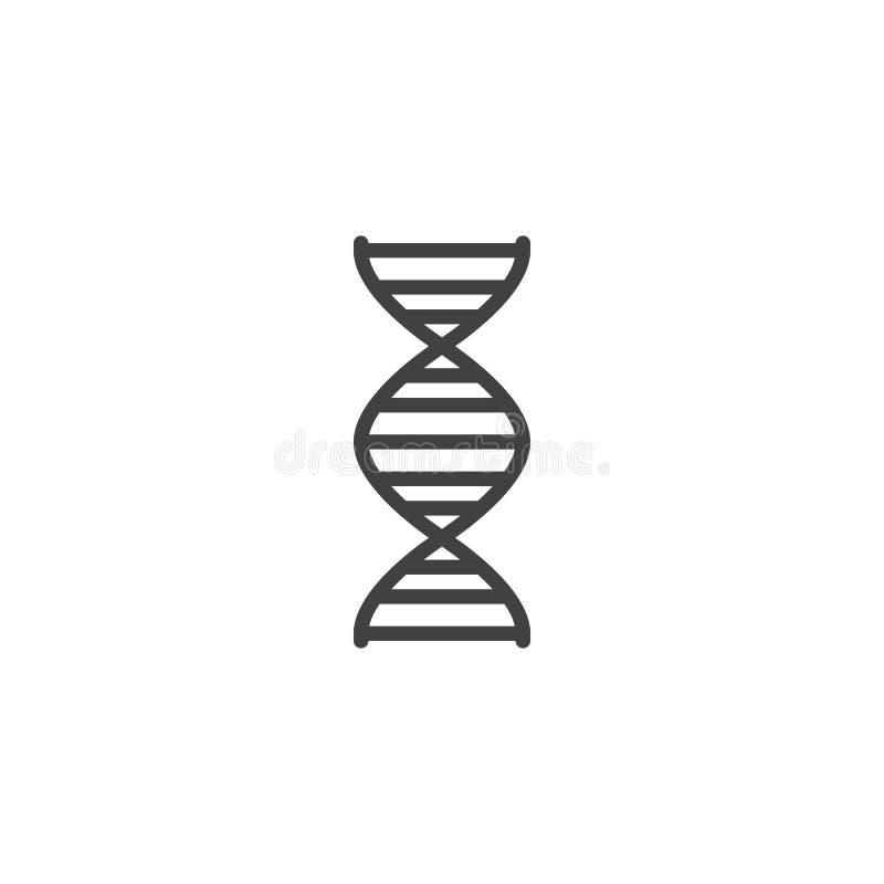 Genetiklinie Ikone vektor abbildung
