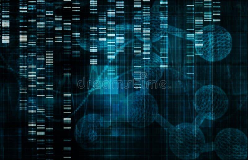 Genetisch DNAconcept dat op witte achtergrond wordt geïsoleerd¯ vector illustratie