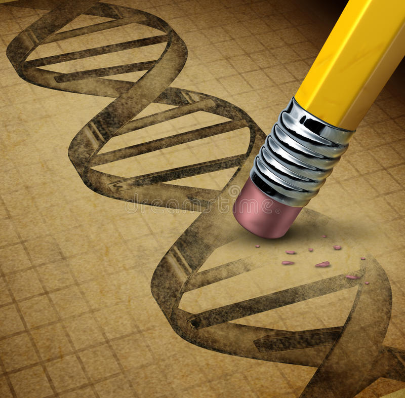 Genetische biologie stock illustratie