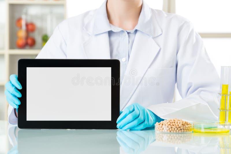 Genetischer Änderungslebensmittelbedarf, Forschung für menschliche Gesundheit c zu sein lizenzfreie stockfotos