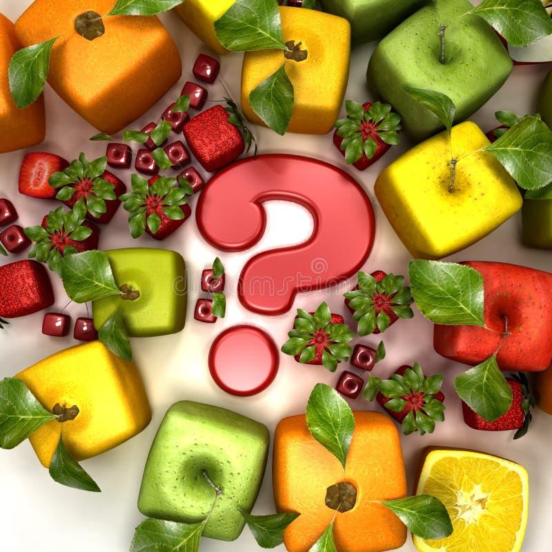 genetisk behandlig för frukt stock illustrationer