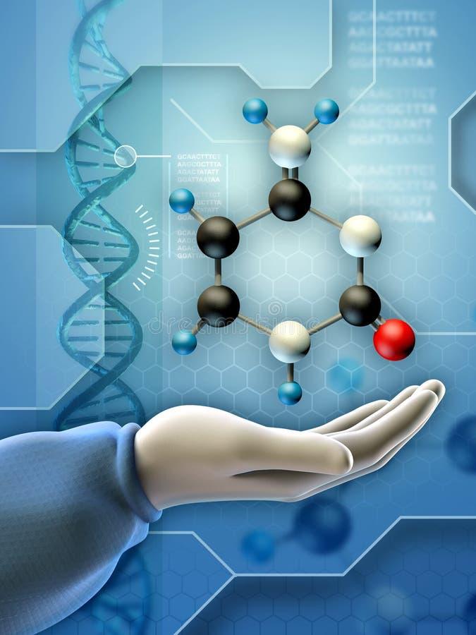 genetisk engineering stock illustrationer