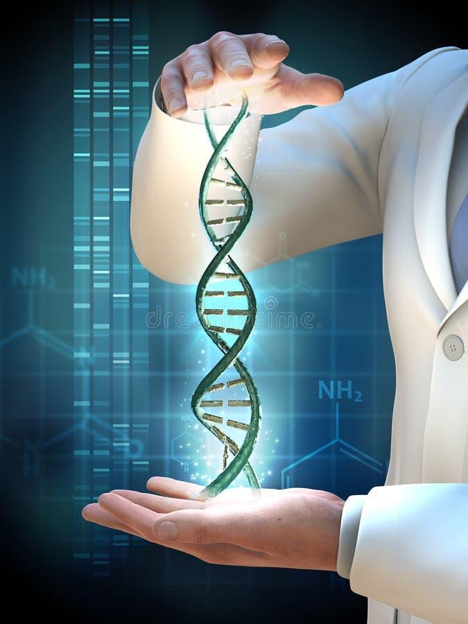 genetisk forskning vektor illustrationer