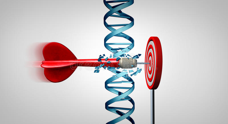 Genetiskt genombrott stock illustrationer