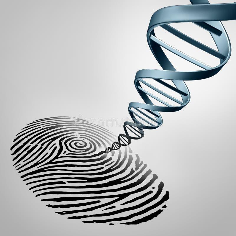 Genetiskt identifiera med fingeravtryck stock illustrationer