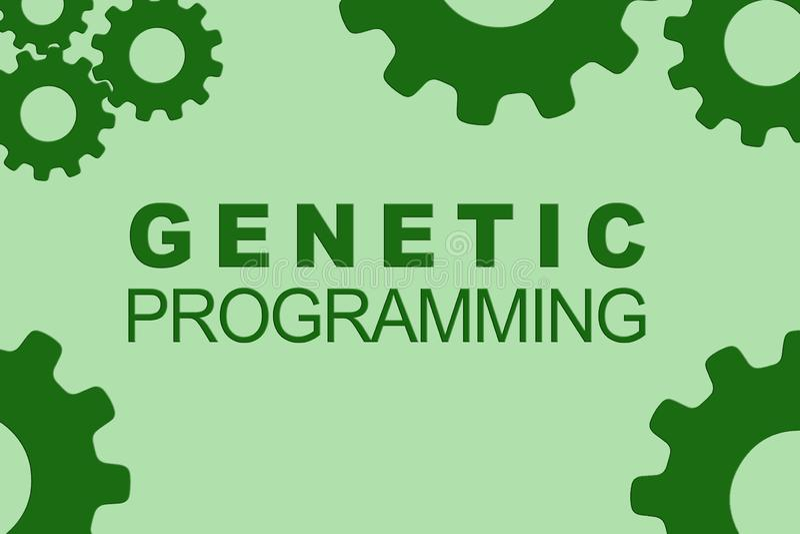 GENETISKT PROGRAMMERA begrepp royaltyfri illustrationer