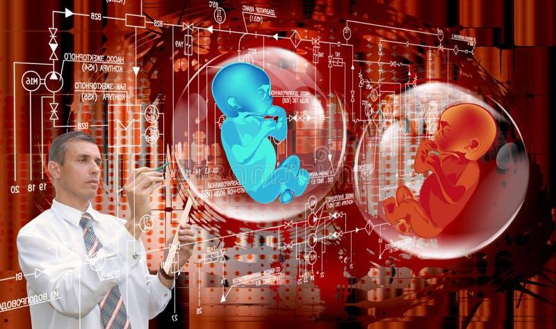 Genetyczny badanie ilustracja wektor