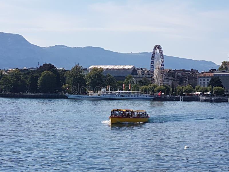 Geneva湖 库存图片