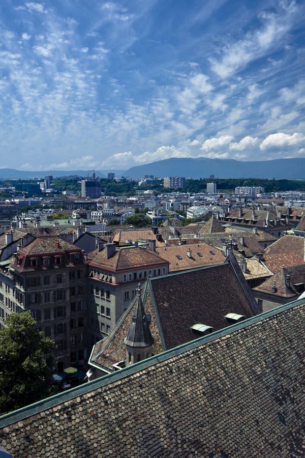 Download Geneva aerial view stock image. Image of geneva, switzerland - 5645859