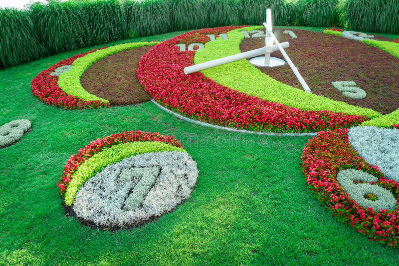 Geneva Flower Clock royalty free stock images