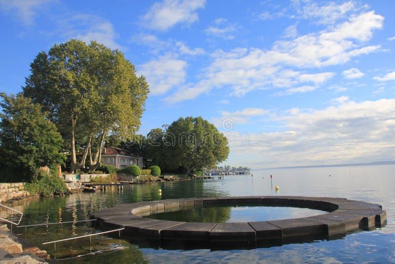 geneva lake royaltyfria bilder