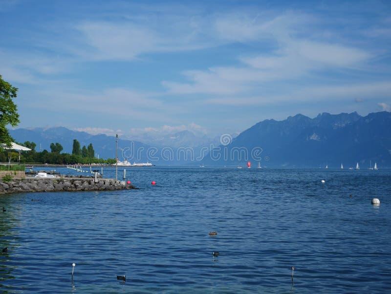 geneva lake royaltyfri fotografi