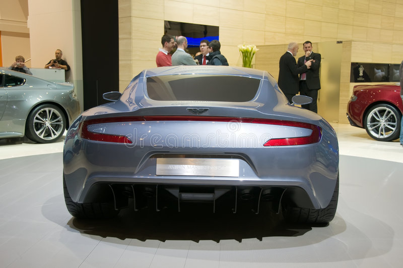 Geneva Motor Show 2009 - Aston Martin One-77 stock photo