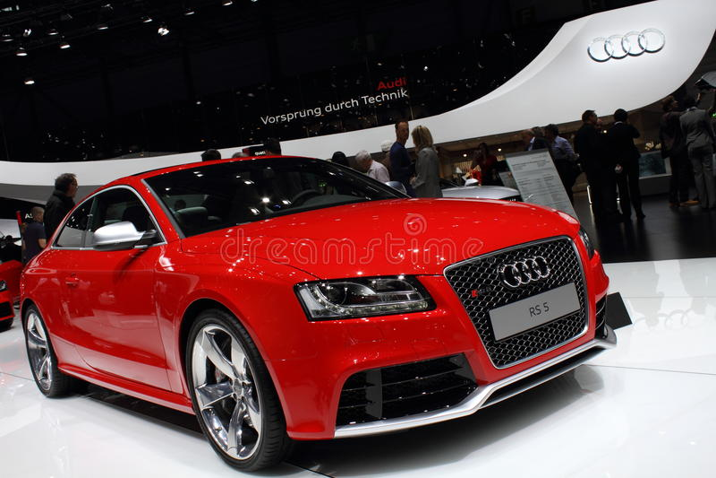 Geneva Motor Show 2011 – Audi RS5 stock photography