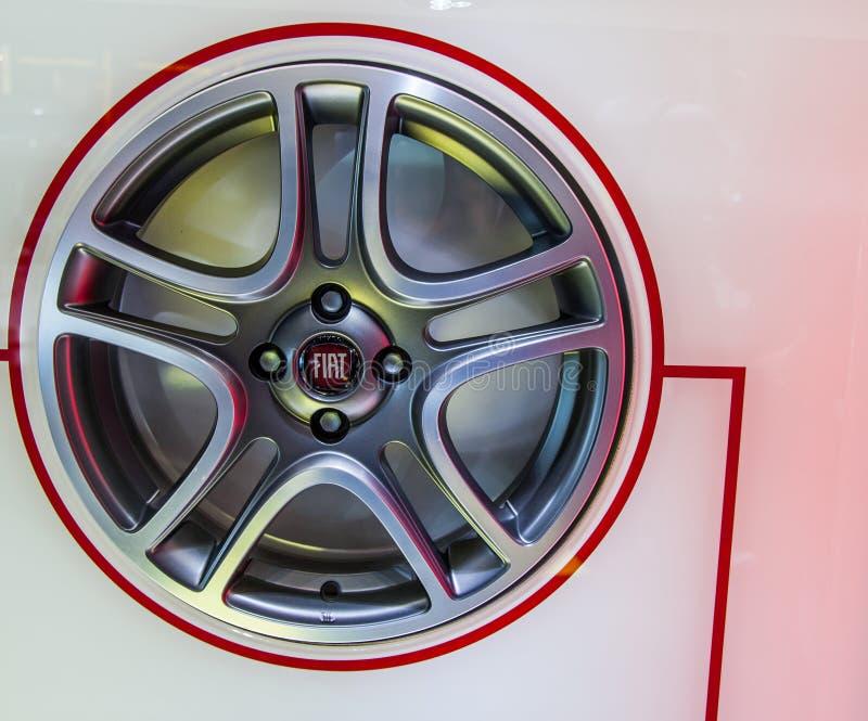 Geneva Motorshow 2012 - Fiat Car Rim stock image