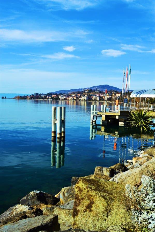 Geneva See, die Schweiz stockbilder