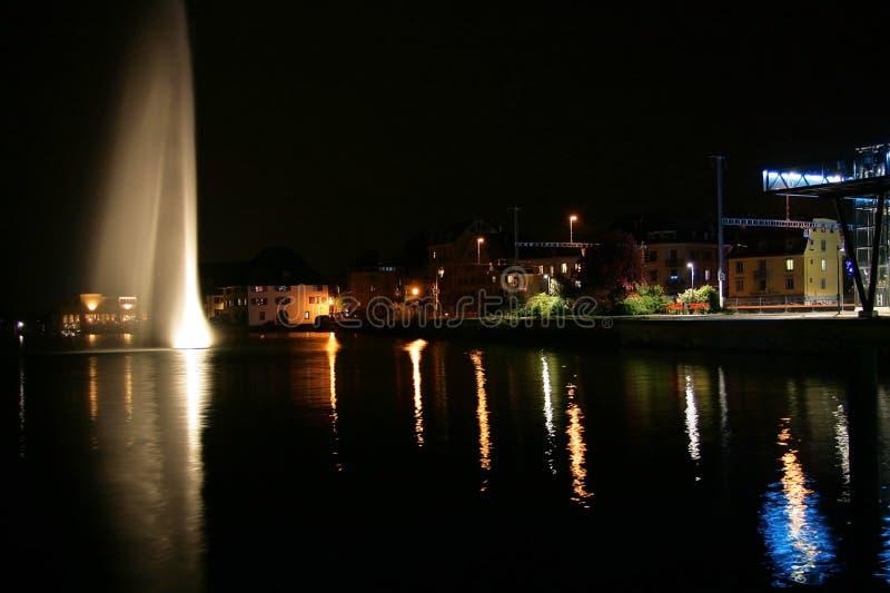 Genf Nachts Lizenzfreies Stockbild