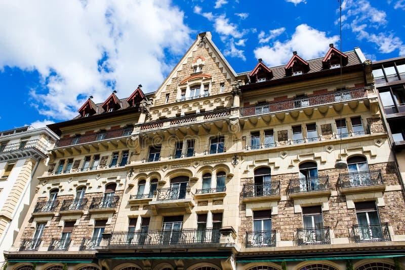 Geneva, Switzerland - June 17, 2016: The old building architecture royalty free stock photo