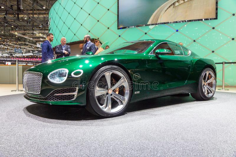 Bentley EXP 10 Speed 6 car. GENEVA, SWITZERLAND - MARCH 4, 2015: Bentley EXP 10 Speed 6 unveiled at the 85th International Geneva Motor Show in Palexpo royalty free stock photos