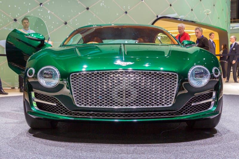 Bentley EXP 10 Speed 6 car. GENEVA, SWITZERLAND - MARCH 3, 2015: Bentley EXP 10 Speed 6 unveiled at the 85th International Geneva Motor Show in Palexpo, Geneva stock image