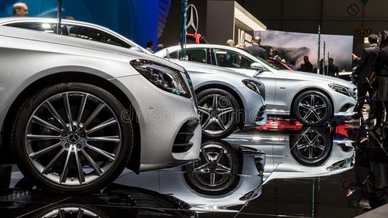 New Mercedes Benz cars stock photos