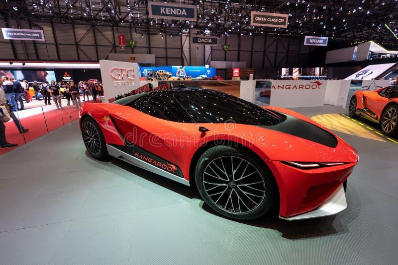 GENEVA, SWITZERLAND - MARCH 10, 2019: View of the 89th Geneva International Motor Show royalty free stock photos
