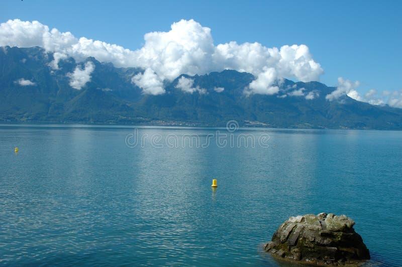 Geneve närliggande La Turnera-de-Peilz för sjö i Schweiz royaltyfri fotografi