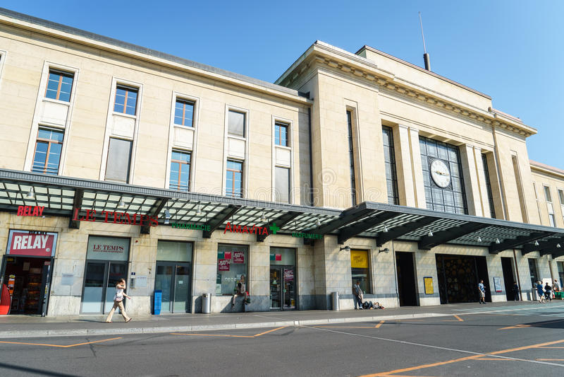 Genewa stacja kolejowa obrazy stock