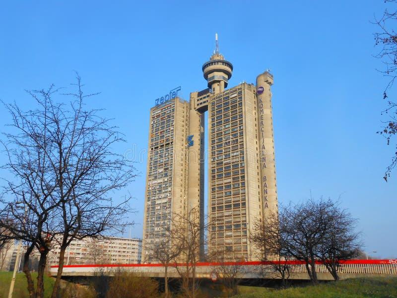 Genex tower stock photo