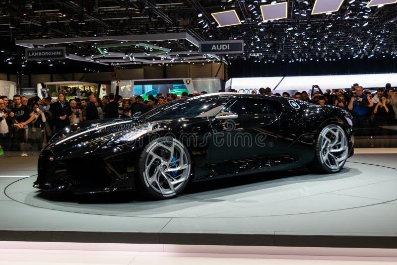 Genf, die Schweiz, am 9. März 2019 - Internationale Automobilausstellung lizenzfreies stockbild