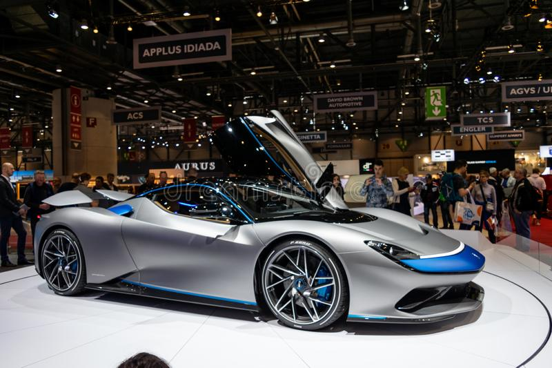 Genf, die Schweiz, am 9. März 2019 - Internationale Automobilausstellung stockbilder