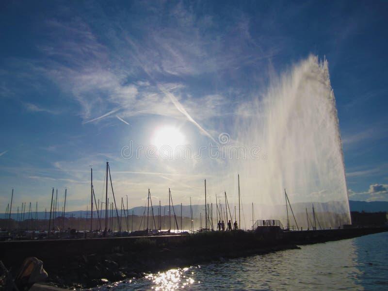 Genf-Hafen lizenzfreie stockbilder