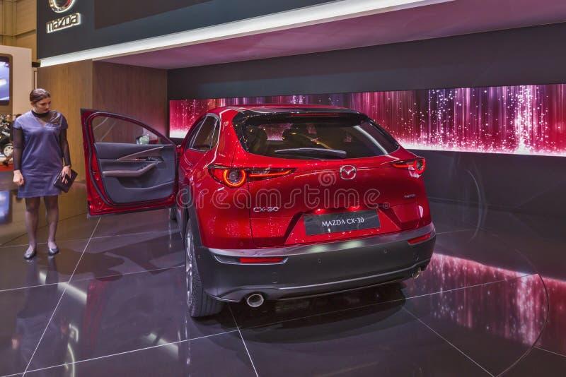 Genf-Internationale Automobilausstellung 2019 stockbilder