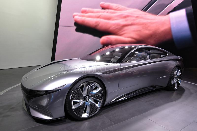 88. Genf-Internationale Automobilausstellung 2018 - Hyundai Le Fil Rouge Concept stockfotografie