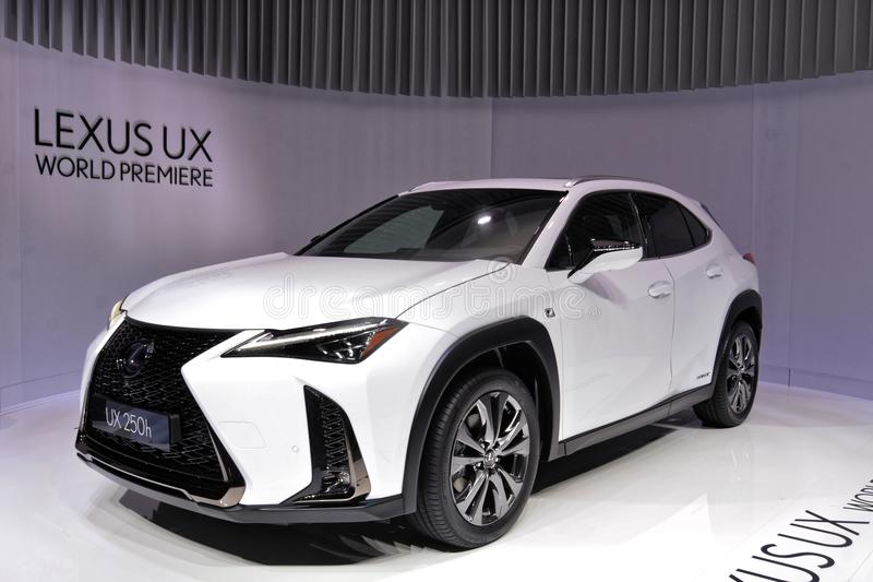 88. Genf-Internationale Automobilausstellung 2018 - Lexus UX lizenzfreies stockbild