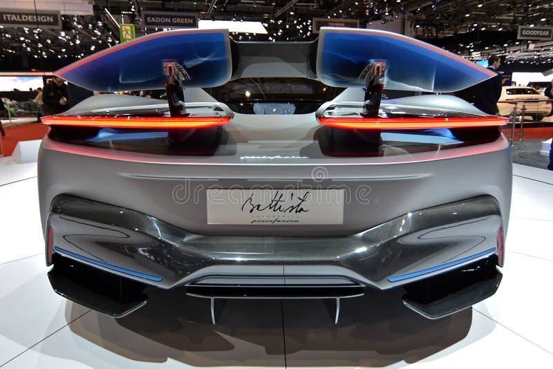 89. Genf-Internationale Automobilausstellung - Pininfarina Battista stockbild