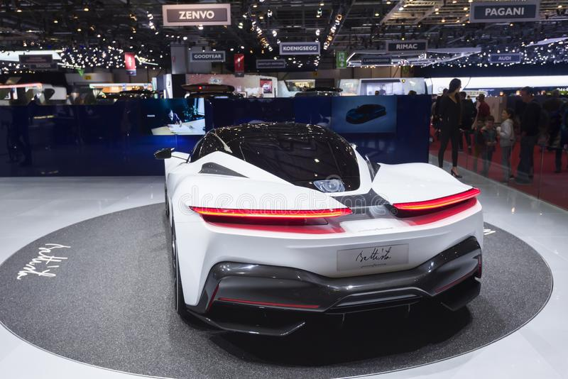 Genf-Internationale Automobilausstellung 2019 stockfotos