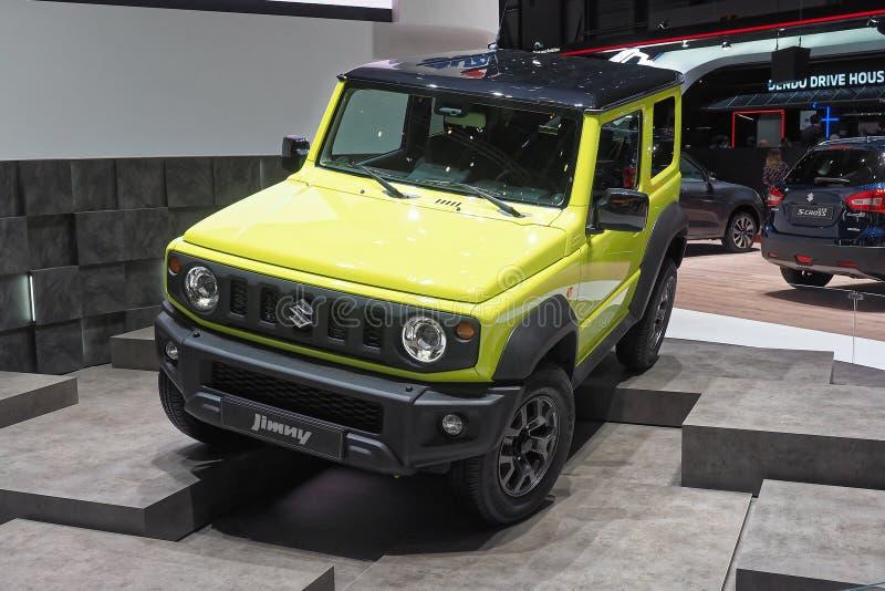 89. Genf-Internationale Automobilausstellung - Suzuki Jimny stockfoto