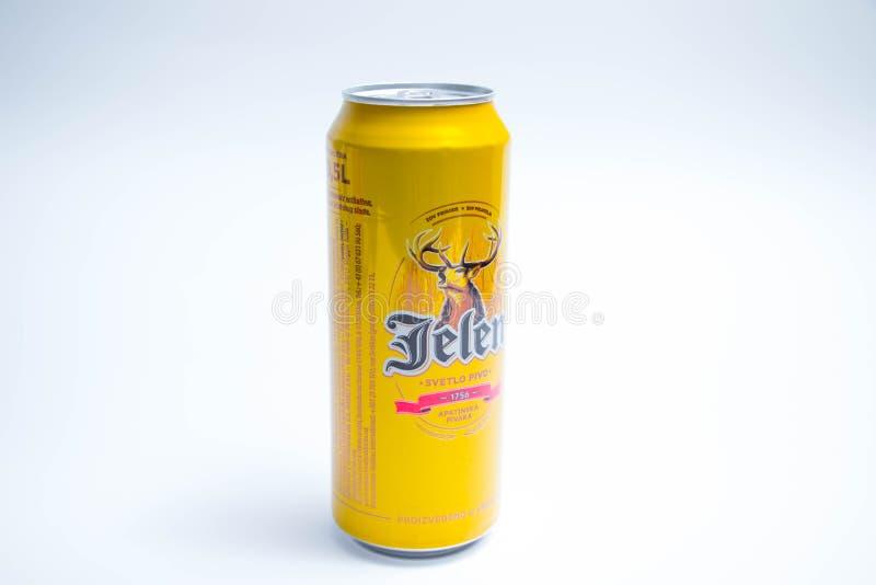 """Genf-/Schweiz-†""""03 03 2019: Jelen-Bier kann von Serbien lokalisierte auf Wei? stockbilder"""