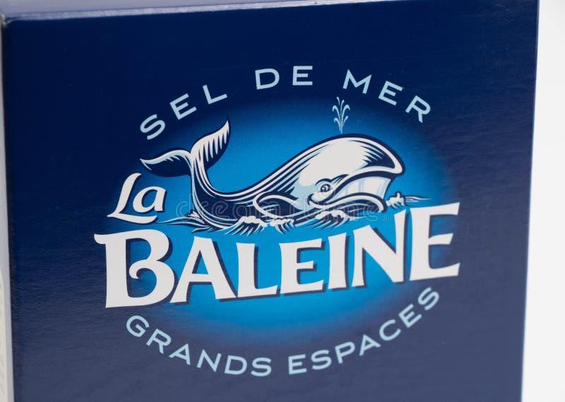 Genf/Switzerland-16 07 18: Seesalzkasten-La baleine Frankreich stockbild